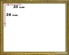 0H098 Régi aranyozott képkeret 28 x 35 cm