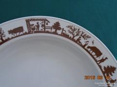 Szecessziós Alpesi Árnykép sorozattal Berndorf Luzern SVÁJC tányér-23 cm