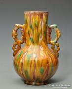 Antik Mezőtúri váza Veres Lajos (1882-1918) 23cm.