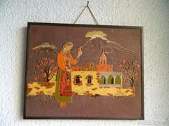 Örmény tűzzománc falikép