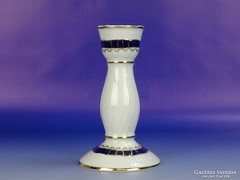 0H185 Hollóházi porcelán Pompadour gyertyatartó