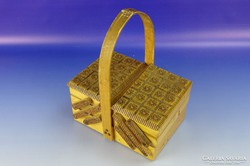 0H048 Retro öt fakkos varrós doboz