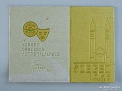 0H064 Szegedi országos autóstalálkozó plakett 1964
