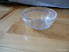 Retro kis üveg tál, retro kináló tál