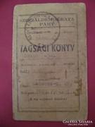1946 SZOC.DEM PÁRT TAGS.KÖNYV