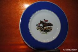Hollóházi porcelán rókavadászos tányér