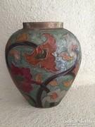 Szecessziós réz zománcozott váza (74)