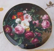 Wedgwood dísztányér rózsacsokor virág dekor