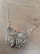 Régi ezüst nagy pillangós nyaklánc
