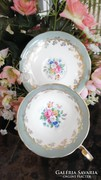 Aynsley angol porcelán virágos csésze és csészealj
