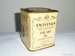 Teás angol fémdoboz pléh doboz - Twinings Earl Grey Tea