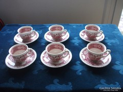 """Villeroy&Boch """"Rusticana"""" pink mintás csésze alátéttel-6 db"""