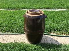 Kerámia káposztasavanyító hordó, 25 l, mázas cseréphordó