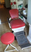 Antik fogorvosi szék és tartozékai
