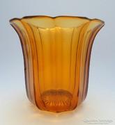 Art deco borostyánüveg váza
