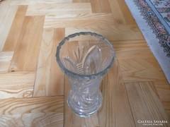 Csiszolt  üveg váza,