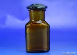 0H663 Antik gyógyszeres üveg patikaüveg
