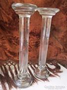 XIX sz. Eredeti antik biedermeier üveg posztament 4176 gramm