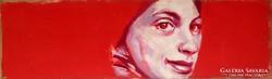 Molnár István: Női portré vörösben