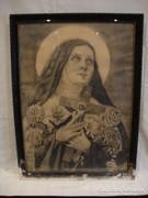 Szabó Attila 1930 vallásos ceruzarajz