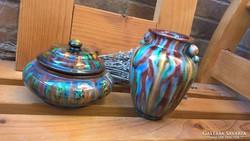 Badár Art deco váza Bonbonier
