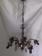 Szecessziós stilusú fém csillár 5 ágú