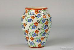 0I261 Régi Zsolnay virágos váza 9 cm