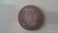 Ezüst 2 1/2 Gulden 1960.