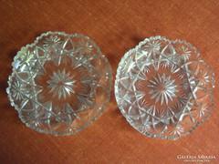 2 db.kristály, süteményes tányér.