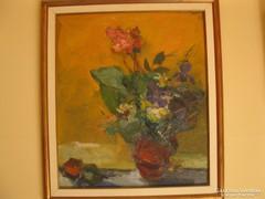 Vilhelm Károly Orgonás csendélet című festménye