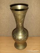 Dúsan cizellált réz váza 22,5 cm, 0,5 kg (KV)