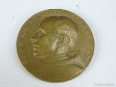0H227 Jelzett bécsi bronz vatikáni emlékplakett