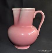 Antik Zsolnay rózsaszín kancsó