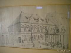 P270 Antik ceruzarajz 1800-as évekből