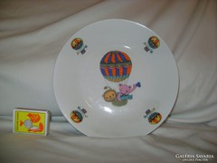 Régi, porcelán, jelenetes, gyermek mély tányér - Bavaria