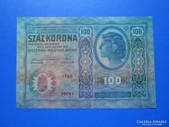 Extraszép 100 korona 1912 bélyegzés nélkül