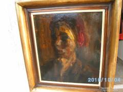 Félegyházi László:Női portré olaj festmény