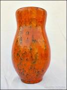 Tófej iparművész kerámia váza , öblös - nagy méret