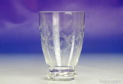 0I820 Régi maratott decis üveg pohár