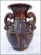 Jelzett Badár Balázs  régi kerámia váza
