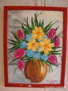 Iván Brigitta virágcsendélet festmény