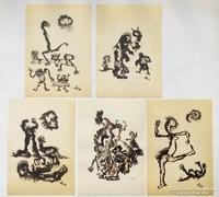 Horváth László (1951) szobrászművész korai egyedi grafikái