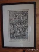 Régi évszámos metszet keretben (1836)
