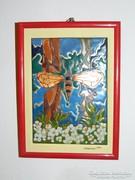 Pillangó - tűzzománc falikép