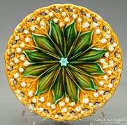 Villeroy&Boch Schramberg gyöngyvirágos majolika tányér