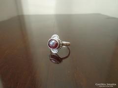 Gránátköves ezüst gyűrű