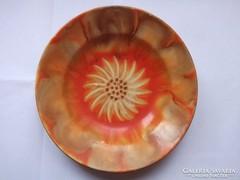 Virágmotívumos kézzel festett gránit tányér