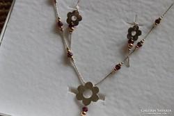 Izraeli ezüst nyaklánc és fülbevaló