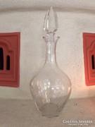 Csiszolt dekantáló, üveg palack kristályüveg dugóval (14)