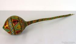 0I993 Régi kézifestett lopótök 75 cm